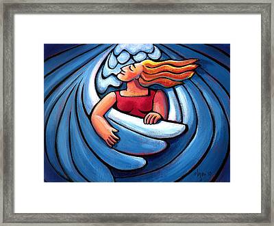 Waiting In The Wings Framed Print by Angela Treat Lyon