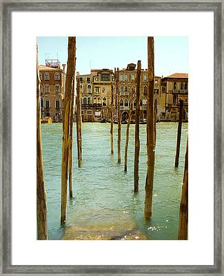 Waiting In Venice Framed Print by Julie Palencia