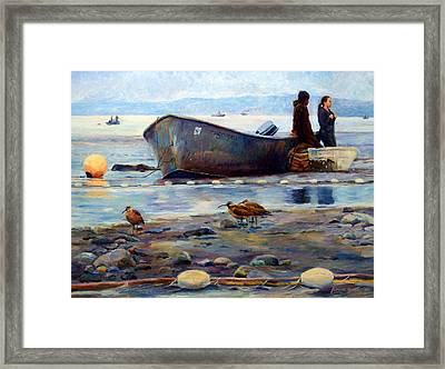 Waiting Framed Print by Jeanne Young
