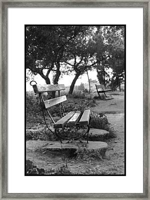 Waiting Framed Print by Julia Bridget Hayes