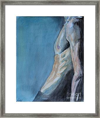 Waiting Man Framed Print by Jindra Noewi