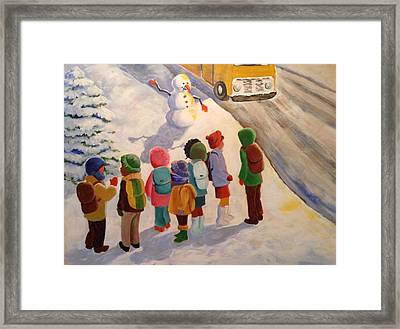 Waiting Framed Print by Marilyn Jacobson