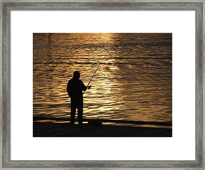 Waiting Framed Print by Mark Alan Perry