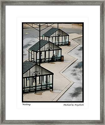 Waiting Framed Print by Michael Peychich