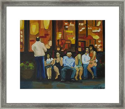 Waiting On A Taxi Framed Print