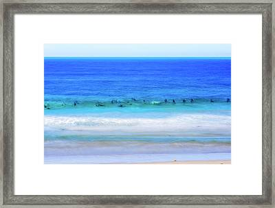 Waiting On A Wave Framed Print