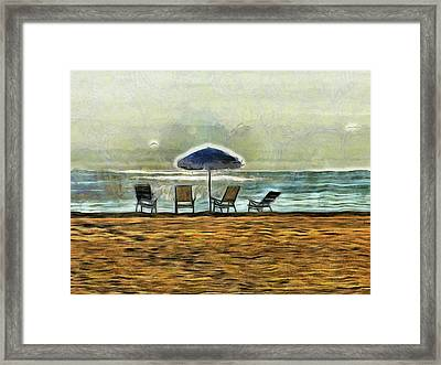 Framed Print featuring the mixed media Waiting On High Tide by Trish Tritz