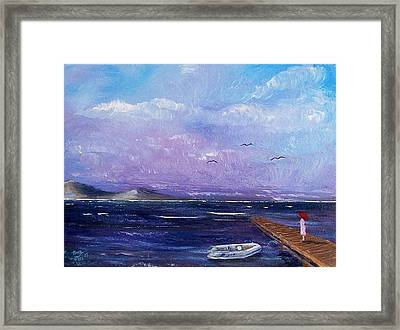Waiting On The Dock Framed Print by Tony Rodriguez