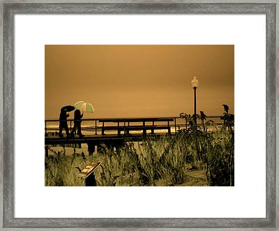 Waiting On The Rain Framed Print