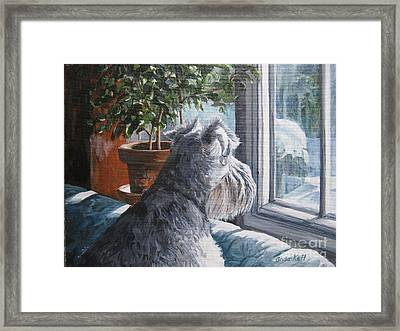 Waiting Patiently Framed Print by Anda Kett