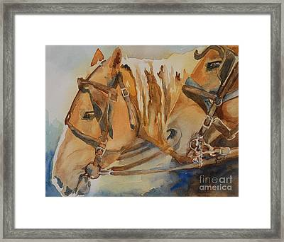 Waiting Patiently Framed Print by Gretchen Bjornson