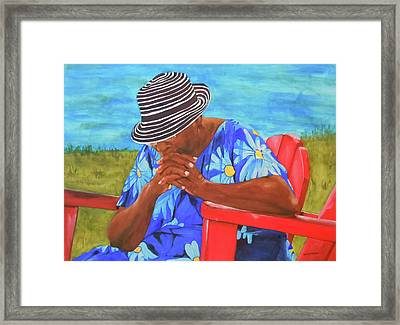 Waiting Patiently Framed Print by Jean Blackmer