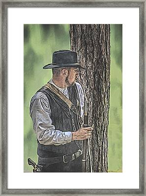 Waiting Framed Print by Randy Steele
