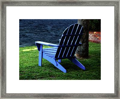 Waiting Framed Print by Sandy Keeton