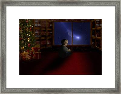 Waiting Santa Framed Print