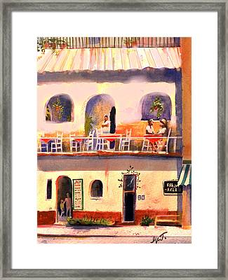 Framed Print featuring the painting Waiting Tables by Gertrude Palmer