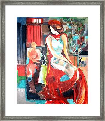 Waiting   Framed Print by Therese AbouNader