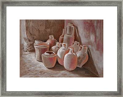 Waiting To Be Used Framed Print by Keith Gantos
