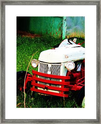 Waiting To Plow Framed Print by Beverly Hammond