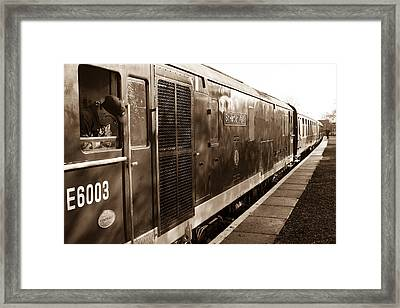 Waiting To Pull Out Of Blundson Station At Swindon And Cricklade Railway Framed Print