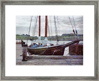 Waiting To Sail Framed Print by Jeff Kolker