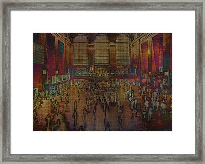 Waiting To Travel Framed Print