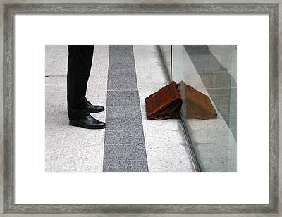 Waitng For The Office Framed Print by Jez C Self