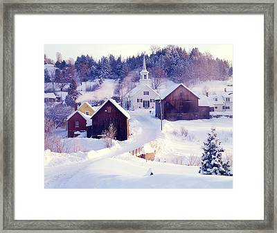 Waits River Vt Framed Print by George Robinson