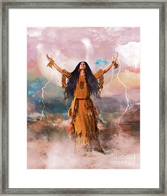 Wakan Tanka The Great Spirit Framed Print by Shanina Conway