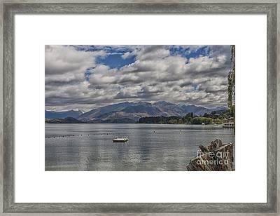 Wakatipu Lake In New Zealand Framed Print by Patricia Hofmeester