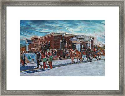 Wake Forest Christmas Parade Framed Print by Tommy Midyette
