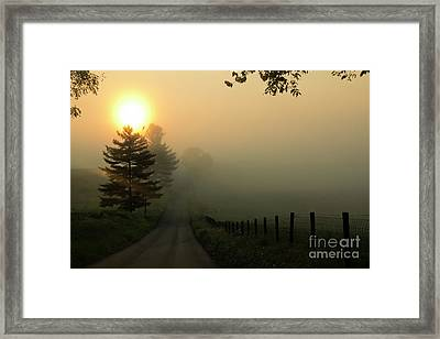 Wake Me Up When September Ends Framed Print