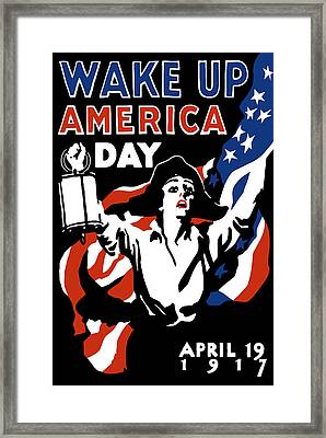 Wake Up America Day - Ww1 Framed Print by War Is Hell Store