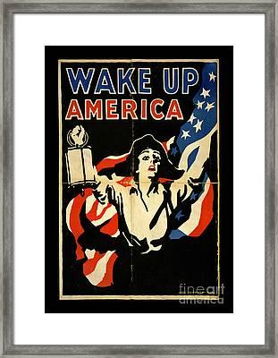 Wake Up America Framed Print