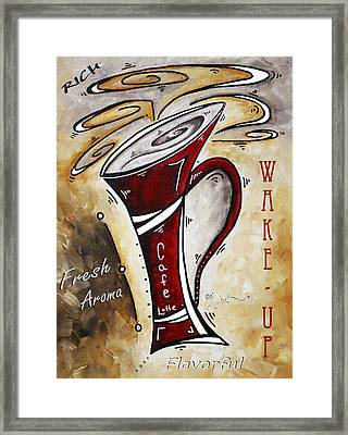 Wake Up Call By Madart Framed Print by Megan Duncanson