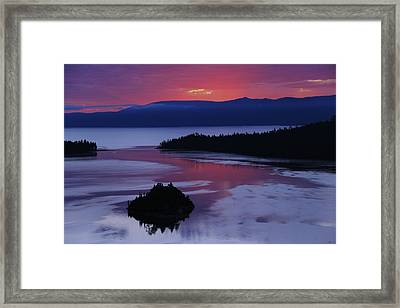 Wake Up In Lake Tahoe  Framed Print