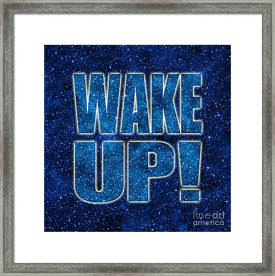 Wake Up Space Background Framed Print by Ginny Gaura