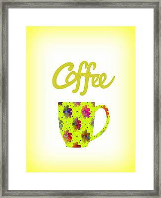 Wake Up To Coffee Framed Print