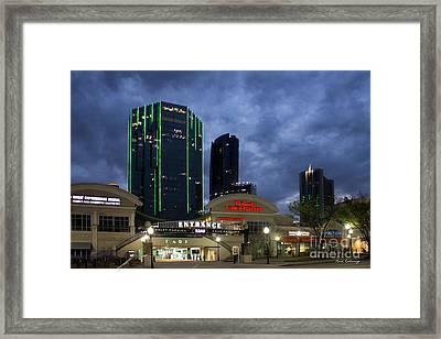 Wake Up Tower Place 100 Buckhead Atlanta Art Framed Print