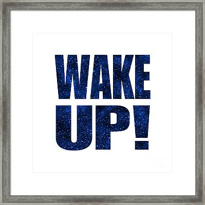 Wake Up White Background Framed Print by Ginny Gaura