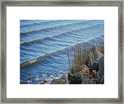 Wakes Of Dawn Framed Print by DigiArt Diaries by Vicky B Fuller