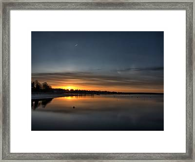 Waking To A Cold Sunrise Framed Print