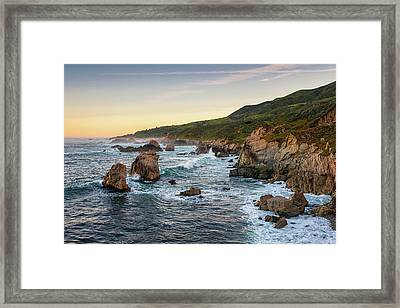 Waking Up In Cali Framed Print by Aron Kearney