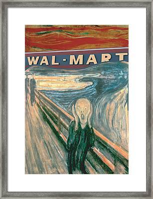 Wal-mart Scream Framed Print by Ricardo Levins Morales