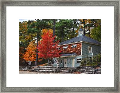 Walden Pond Bath House Concord Ma Framed Print