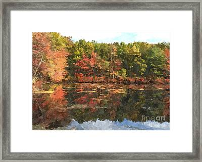 Walden Pond Framed Print by Bryan Attewell