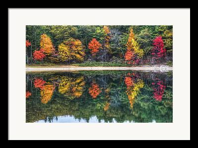 Walden Pond Digital Art Framed Prints