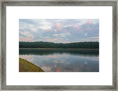 Walden Pond Morning Light Concord Ma Red Clouds Framed Print
