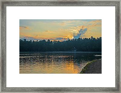 Walden Pond Sunrise Concord Ma Framed Print