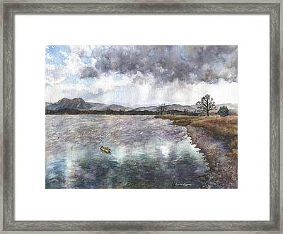 Walden Ponds On An April Evening Framed Print